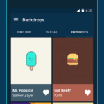 backdrops aplikace android