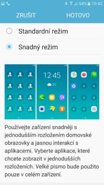Samsung Galaxy S7 Snadný režim