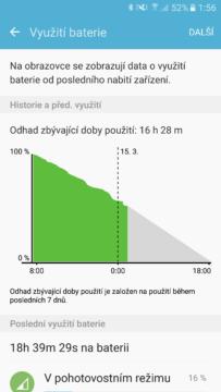 Samsung Galaxy S7 využití baterie