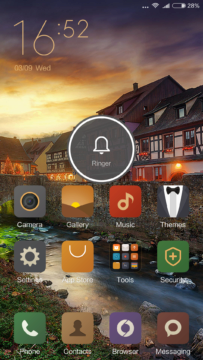 Xiaomi Mi4S – homescreen – volume full