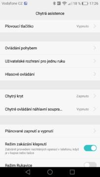 Huawei P9 chytrá asistence
