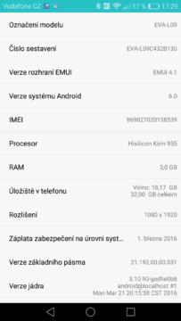 Huawei P9 fw info