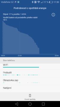 Huawei P9 výdrž baterie