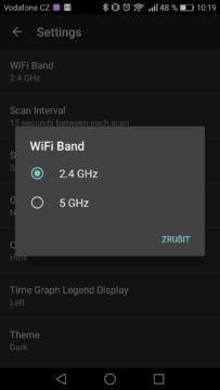 WiFi Analyzer (open-source) – výpis sítí 2