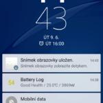 Sony Xperia M4 Aqua – zamykací obrazovka