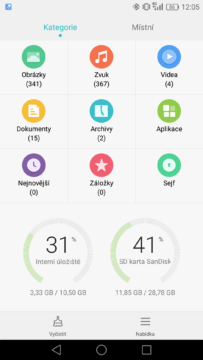 Honor 7 Lite filemanager