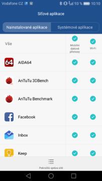 Honor 7 Lite síťové app
