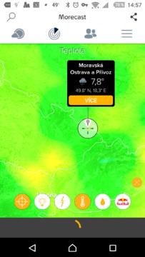 Teploty v mapě