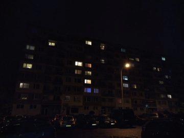 Sídliště ve tmě
