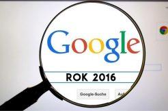 Rok 2016 ve vyhledávání