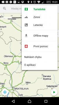 Mapy.cz Kontextová nabídka