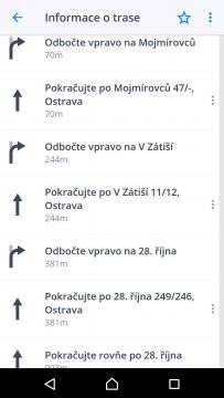 Sygic GPS Navigace a Mapy Itinerář cesty