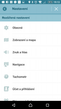 Waze - GPS, Mapy & Doprava Možnosti nastavení