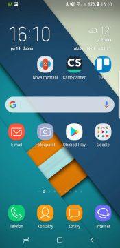 Recenze Samsung Galaxy S8 systém domácí obrazovka