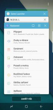 Recenze Samsung Galaxy S8 systém multitasking