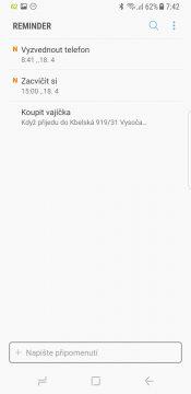 Samsung Galaxy S8 recenze Bixby upomínka