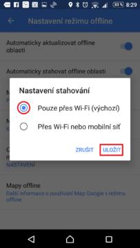 Stahování pouze přes Wi-Fi