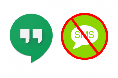 posílat sms hangouts