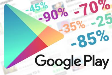 aplikace slevy google play akce zdarma