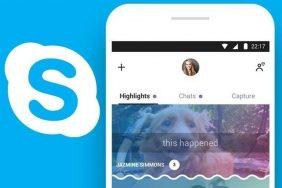 socialni sit skype tmavy motiv