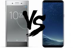 telefon xperia xz premium vs galaxy S8