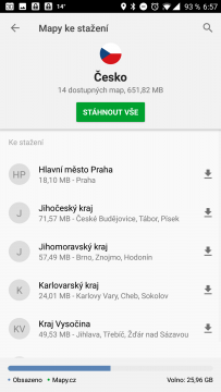 Mapové podklady: Česko