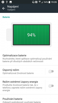 android 8 baterie ilustracni foto