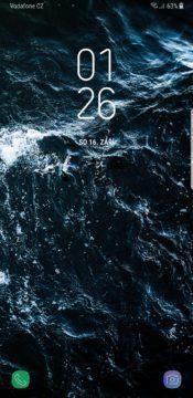 Samsung Galaxy Note 8 lockscreen