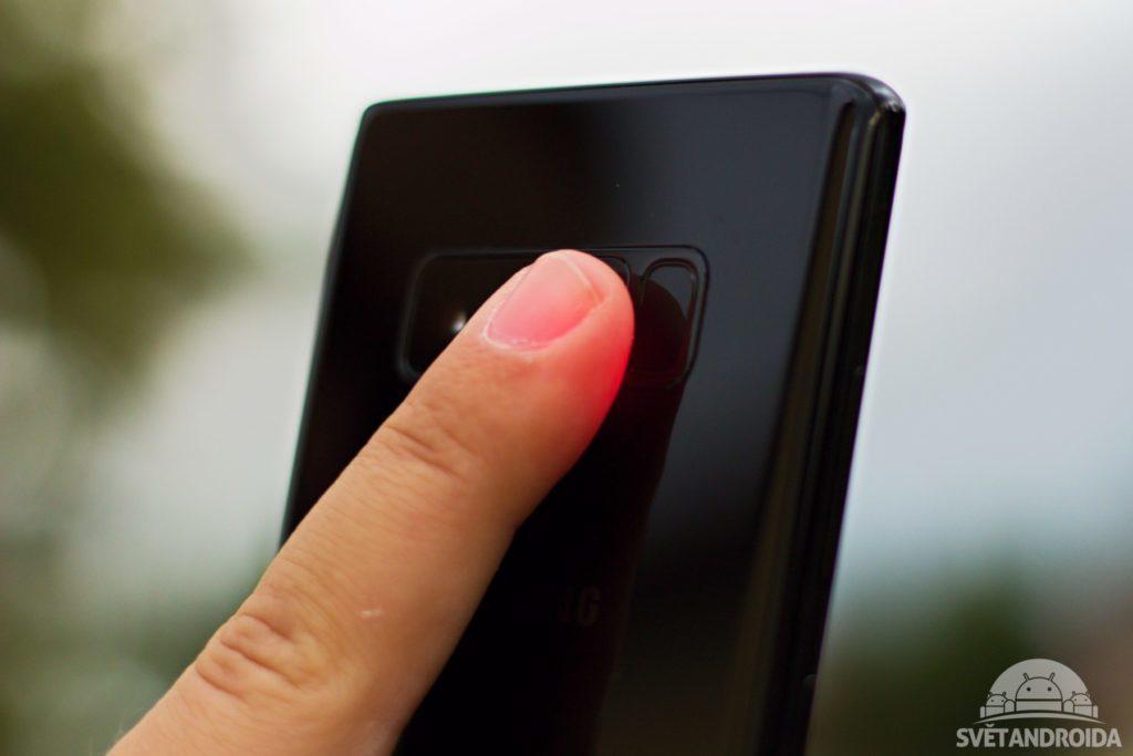 Samsung Galaxy Note 8 senzor tepu