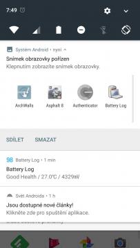 Telefon Xiaomi MI A1-system- notifikacni lista (2)