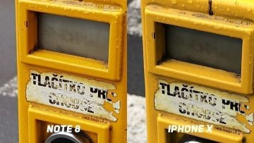 Foto test Samsung Galaxy Note8 vs. Apple iPhone X-tlacitko-2
