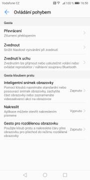 Huawei Mate 10 Pro ovladani pohybem