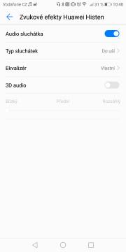 Huawei Mate 10 Pro zvuk