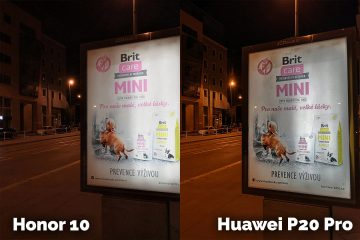 fototest Honor 10 vs Huawei P20 Pro nocni fotografie