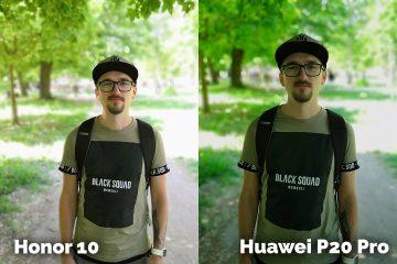 fototest Honor 10 vs Huawei P20 Pro portret