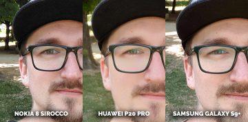 Který mobil fotí nejlépe? Nokia 8 Sirocco vs Huawei P20 Pro vs Samsung Galaxy S9 Plus - brýle detail