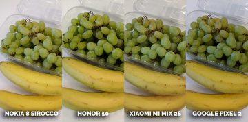 fototest honor 10 vs xiaomi mi mix 2S - ovoce