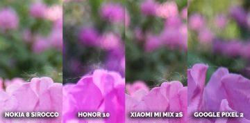jaký mobil s dobrým fotoaparátem? Honor 10, Nokia 8 Sirocco, Xiaomi Mi Mix 2s, Pixel 2 pavučina