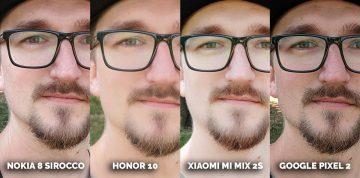 Nejlepší selfie kamera Honor 10, Pixel 2, Xiaomi Mi Mix 2S, Nokia 8 Sirocco