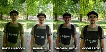 Srovnání fotoaparátů fototest Honor 10, Pixel 2, Xiaomi Mi Mix 2S, Nokia 8 Sirocco selfie