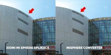 Porovnani mi sphere camera mi sphere converter budova