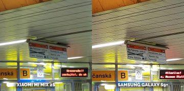Fotí lépe Xiaomi Mi Mix 2S nebo Samsung Galaxy S9+? detail metro