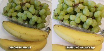 Porovnání fotoaparátů Xiaomi Mi Mix 2S vs Samsung Galaxy S9 Plus - banan