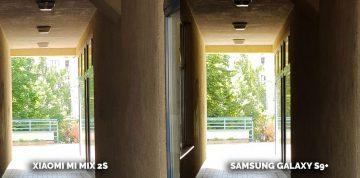 Nejlepší kamera Xiaomi Mi Mix 2S vs Samsung S9 Plus - detail podchod