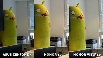 jak fotí Asus Zenfone 5 vs. Honor 10 vs. Honor View 10 - maskot