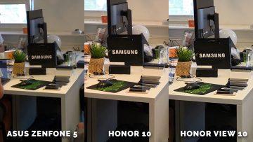 Testování Asus Zenfone 5 vs. Honor 10 vs. Honor View 10 - stul
