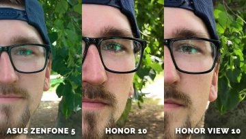 Portret test detail - Asus Zenfone 5 vs. Honor 10 vs. Honor View 10