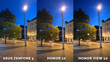fototest Asus Zenfone 5 vs. Honor 10 vs. Honor View 10 - nocni ulice