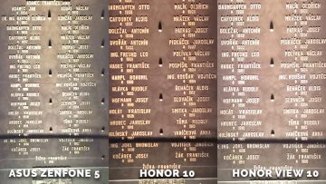 Text pomník - Asus Zenfone 5 vs. Honor 10 vs. Honor View 10