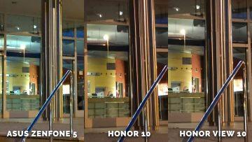 Asus Zenfone 5 vs. Honor 10 vs. Honor View 10 testovani fotoaparatu - dvere